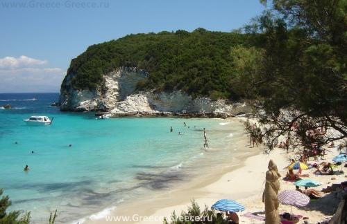 Пляж Врика на Антипаксосе