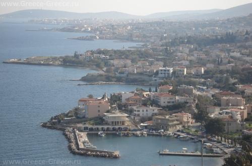 Красивый вид на остров Хиос