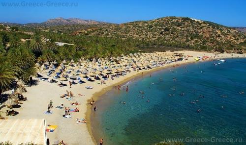 Пляж Вай, Крит