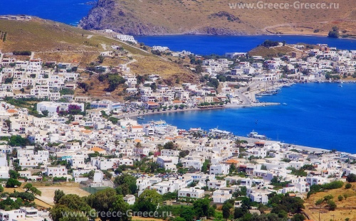 Город Скала на острове Патмос